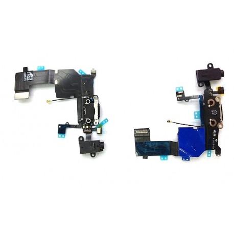 Nabíjecí konektor, audio konektor, kabel s mikrofonem pro Apple iPhone 5C - černá