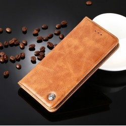 Huawei P9 Lite 2017 - Brown PU leather case
