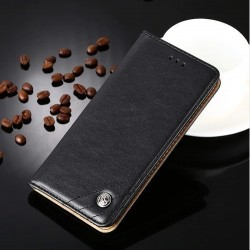 Huawei P9 Lite - black PU leather case