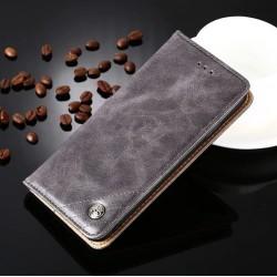Huawei P9 Lite - sivé PU kožené puzdro
