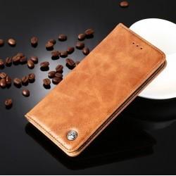 Huawei P9 Lite - hnědé PU kožené pouzdro
