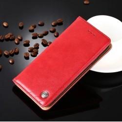 Huawei P9 Lite - červené PU kožené puzdro