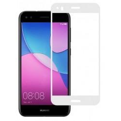 Ochranné tvrdené krycie sklo pre Huawei P9 Lite Mini SLA-L22 SLA-L02 - biele