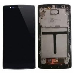 LG G Flex 2 H959 H950 H955 LS996 - Černý LCD displej s rámečkem + dotyková vrstva, dotykové sklo, dotyková deska