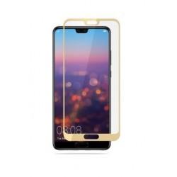 Ochranné tvrdené krycie sklo pre Huawei P20 - zlaté