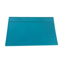 Heat-resistant silicone solder pad