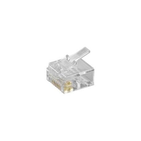 Konektor skrátený RJ45 - UTP CAT5E 8P8C - plochý kábel