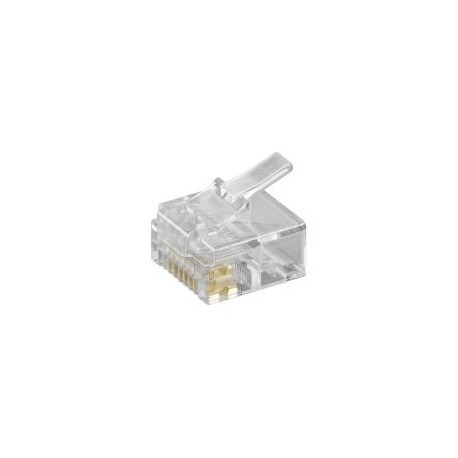 Konektor zkrácený RJ45 - UTP CAT5E 8P8C - plochý kabel