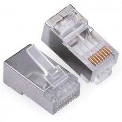 Konektor RJ45 - UTP CAT5 CAT5E 8P8C - univerzální kovový