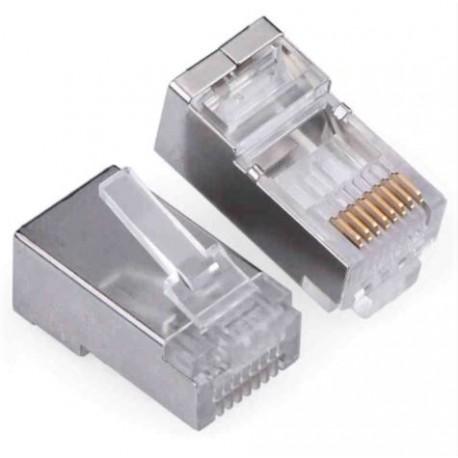 Konektor RJ45 - UTP CAT5 CAT5 8P8C - univerzálny kovový