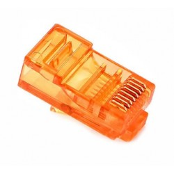 RJ45 Connector - UTP CAT5 CAT5E 8P8C - Universal Yellow