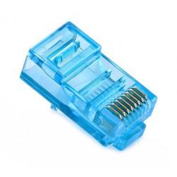 Konektor RJ45 - UTP CAT5 CAT5E 8P8C - univerzální modrý
