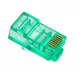 RJ45 Connector - UTP CAT5 CAT5E 8P8C - Universal Green