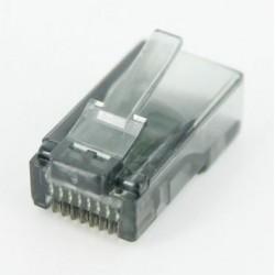 Konektor RJ45 - UTP CAT5 CAT5E 8P8C - univerzálny šedý