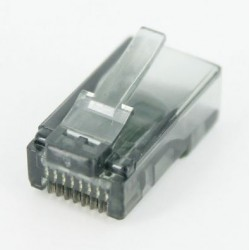 RJ45 Connector - UTP CAT5 CAT5E 8P8C - Universal Gray