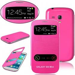 Samsung Galaxy S3 Mini i8190 - pink flip S-View