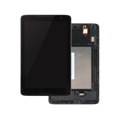 Lenovo IdeaTab A8-50 A5500 - LCD Display with Frame + Black Touch Layer, Touch Glass, Touch Pad
