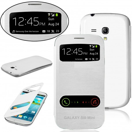 Samsung Galaxy S3 Mini i8190 - white flip S-View