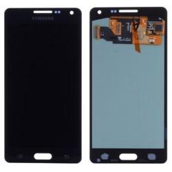 Samsung Galaxy A5 2015 A500F A500Y A500FQ - Czarny wyświetlacz LCD + ekran dotykowy, szkło dotykowe, touchpad + flex