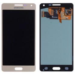 Samsung Galaxy A5 2015 A500F A500Y A500FQ - Zlatý LCD displej + dotyková vrstva, dotykové sklo, dotyková deska + flex