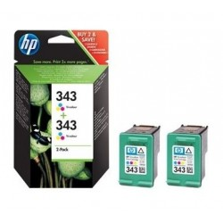 HP 343 CB332E - 2x originálne cartridge