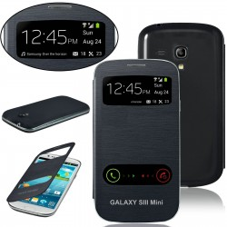 Samsung Galaxy S3 Mini i8190 - black flip S-View