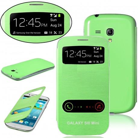 Samsung Galaxy S3 Mini i8190 - green flip S-View