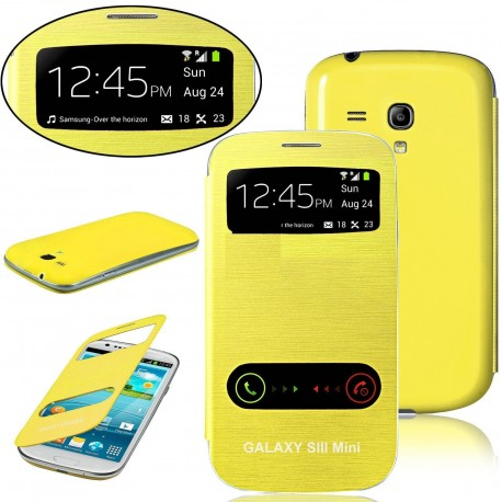 Samsung Galaxy S3 Mini i8190 - the yellow flip S-View