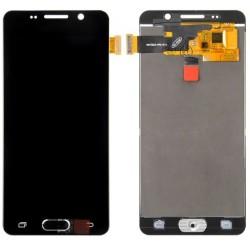 Samsung Galaxy A3 2016 A310F - Černý LCD displej + dotyková vrstva, dotykové sklo, dotyková deska + flex