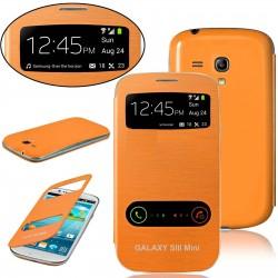 Samsung Galaxy S3 Mini i8190 - oranžový flip S-View