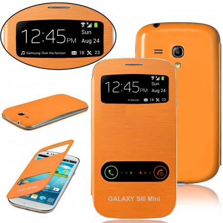 Samsung Galaxy S3 Mini i8190 - orange flip S-View