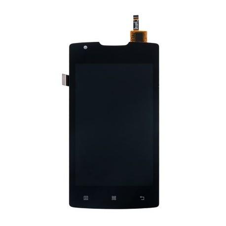 Lenovo A1000 - Čierny LCD displej + dotyková vrstva, dotykové sklo, dotyková doska + flex