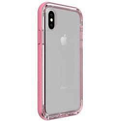 Apple iPhone X - LifeProof Nëxt - Trwała obudowa - Przezroczysty, Różowy