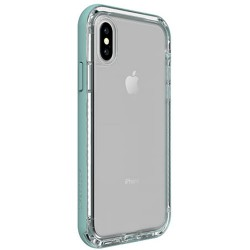 Apple iPhone X - LifeProof Nëxt - durable case - transparent, light green