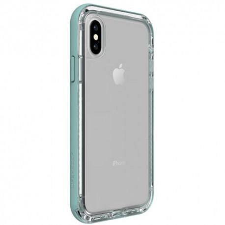 Apple iPhone X - LifeProof Nëxt - durable case - transparent, light green