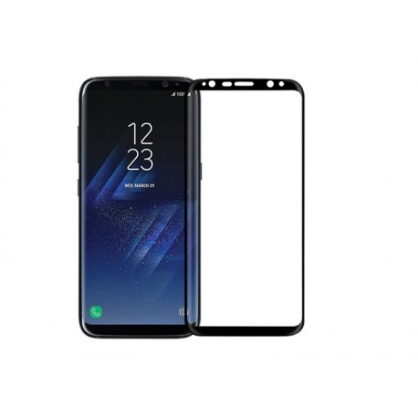 Ochranné tvrdené krycie sklo pre Samsung Galaxy S8 G950 - čierne