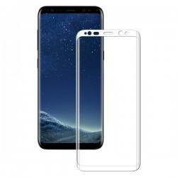 Ochranné tvrdené krycie sklo pre Samsung Galaxy S8 G950 - biele