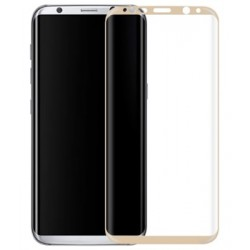 Protective Tempered Cover Glass for Samsung Galaxy S8 G950 - Gold