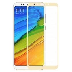 Ochranné tvrzené krycí sklo pro Xiaomi Redmi 5 - zlaté