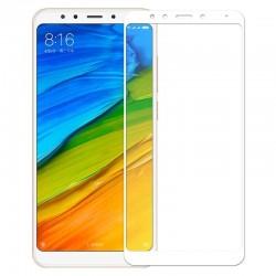 Ochranné tvrdené krycie sklo pre Xiaomi Redmi 5 Plus - biele
