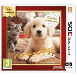 Nintendogs + Cats - Golden Retriever & New Friends - Nintendo 3DS - Box Version
