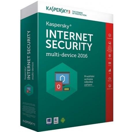 Kaspersky Internet Security multi-device 2016 - antivírusová licencie, 3 zariadenia, 1 rok