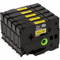 Brother HGE631V5 žlutá/černá páska 12mm 1ks - originální