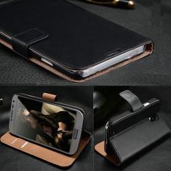 Samsung Galaxy S3 Mini i8190 - Černé kožené wallet pouzdro