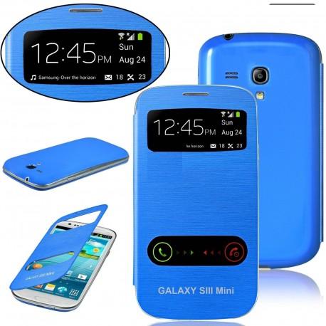 Samsung Galaxy S3 Mini i8190 - blue flip S-View