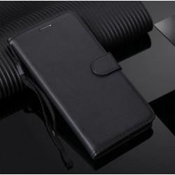 Huawei Honor 8A / Y6 2019 - čierne kožené puzdro