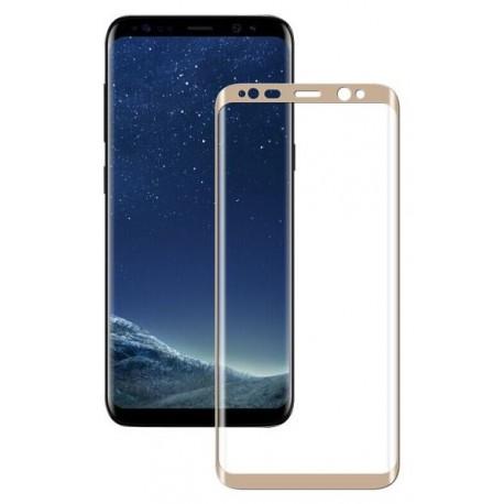 Ochranné tvrdené krycie sklo pre Samsung Galaxy S8 Plus G955 - zlaté