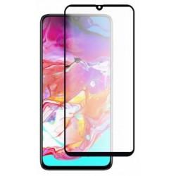 Ochranné tvrdené krycie sklo pre Samsung Galaxy A70 - čierne