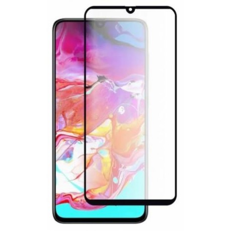 Protective Tempered Tempered Glass for Samsung Galaxy A70 - Black