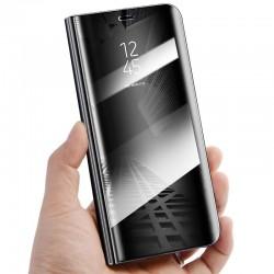 Huawei P20 - flipové zrkadlové puzdro - čierne